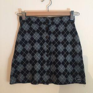Vintage argyle Guess mini skirt